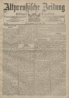 Altpreussische Zeitung, Nr. 71 Sonntag 25 März 1900, 52. Jahrgang
