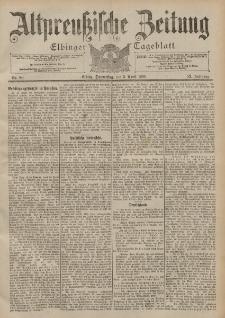 Altpreussische Zeitung, Nr. 80 Donnerstag 5 April 1900, 52. Jahrgang