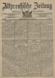 Altpreussische Zeitung, Nr. 92 Sonnabend 21 April 1900, 52. Jahrgang
