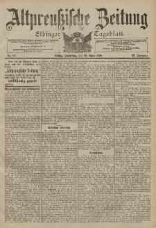 Altpreussische Zeitung, Nr. 96 Donnerstag 26 April 1900, 52. Jahrgang