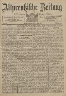 Altpreussische Zeitung, Nr. 106 Dienstag 8 Mai 1900, 52. Jahrgang