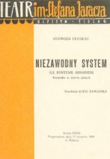 Niezawodny system - program teatralny