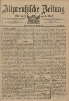 Altpreussische Zeitung, Nr. 116 Sonnabend 19 Mai 1900, 52. Jahrgang