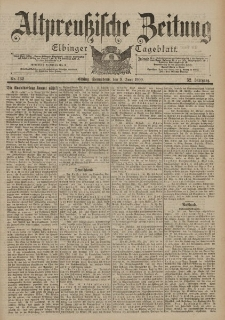 Altpreussische Zeitung, Nr. 132 Sonnabend 9 Juni 1900, 52. Jahrgang