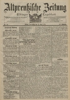Altpreussische Zeitung, Nr. 142 Donnerstag 21 Juni 1900, 52. Jahrgang