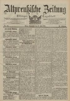Altpreussische Zeitung, Nr. 144 Sonnabend 23 Juni 1900, 52. Jahrgang