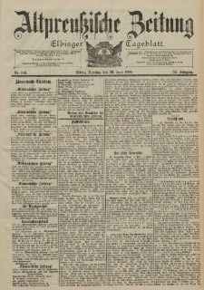 Altpreussische Zeitung, Nr. 146 Dienstag 26 Juni 1900, 52. Jahrgang