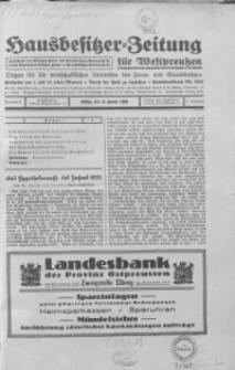 Hausbesitzer-Zeitung für Westpreussen