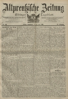 Altpreussische Zeitung, Nr. 162 Sonnabend 14 Juli 1900, 52. Jahrgang