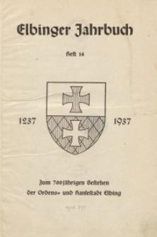 Elbinger Jahrbuch, 1937, H. 14