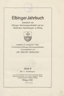 Elbinger Jahrbuch, 1929, H. 8