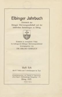 Elbinger Jahrbuch, 1927, H. 5/6
