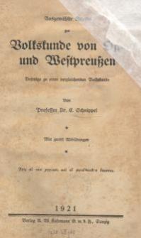 Ausgewählte Kapitel zur Volkskunde von Ost- und Westpreussen
