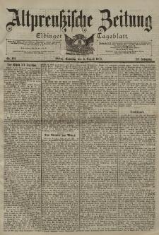 Altpreussische Zeitung, Nr. 181 Sonntag 5 August 1900, 52. Jahrgang