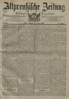 Altpreussische Zeitung, Nr. 183 Mittwoch 8 August 1900, 52. Jahrgang