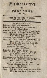 Kirchenzettel der Stadt Elbing, Nr. 14, 31 März 1805