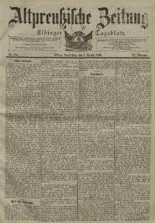 Altpreussische Zeitung, Nr. 184 Donnerstag 9 August 1900, 52. Jahrgang