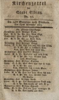 Kirchenzettel der Stadt Elbing, Nr. 51, 24 November 1805