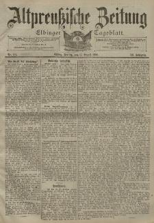 Altpreussische Zeitung, Nr. 191 Freitag 17 August 1900, 52. Jahrgang