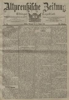 Altpreussische Zeitung, Nr. 195 Mittwoch 22 August 1900, 52. Jahrgang