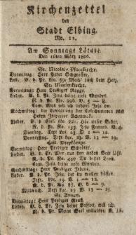 Kirchenzettel der Stadt Elbing, Nr. 12, 16 März 1806