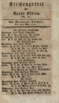 Kirchenzettel der Stadt Elbing, Nr. 21, 4 Mai 1806
