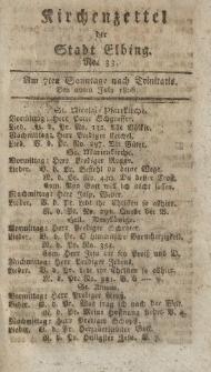 Kirchenzettel der Stadt Elbing, Nr. 33, 20 Juli 1806