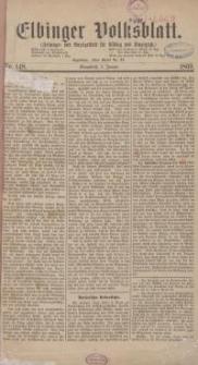 Elbinger Volksblatt (Zeitungs= und Anzeigeblatt für Elbing und Umgegend) 1869