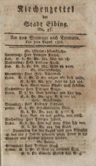 Kirchenzettel der Stadt Elbing, Nr. 35, 3 August 1806