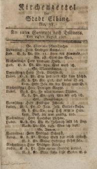 Kirchenzettel der Stadt Elbing, Nr. 38, 24 August 1806