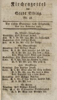 Kirchenzettel der Stadt Elbing, Nr. 48, 2 November 1806