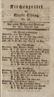 Kirchenzettel der Stadt Elbing, Nr. 56, 25 Dezember 1806