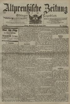 Altpreussische Zeitung, Nr. 201 Mittwoch 29 August 1900, 52. Jahrgang