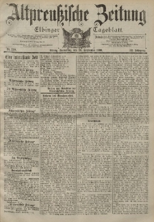 Altpreussische Zeitung, Nr. 220 Donnerstag 20 September 1900, 52. Jahrgang