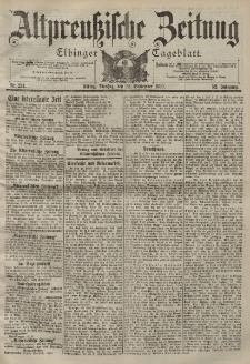 Altpreussische Zeitung, Nr. 224 Dienstag 25 September 1900, 52. Jahrgang