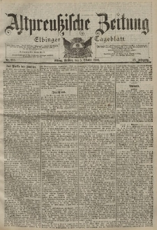 Altpreussische Zeitung, Nr. 233 Freitag 5 Oktober 1900, 52. Jahrgang