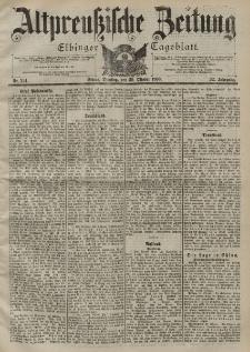 Altpreussische Zeitung, Nr. 254 Dienstag 30 Oktober 1900, 52. Jahrgang