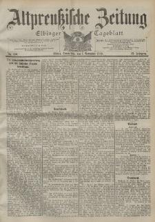 Altpreussische Zeitung, Nr. 256 Donnerstag 1 November 1900, 52. Jahrgang