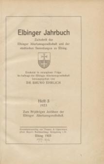 Elbinger Jahrbuch, 1923, H. 3