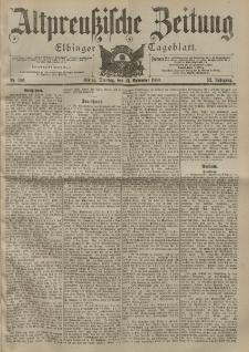 Altpreussische Zeitung, Nr. 266 Dienstag 13 November 1900, 52. Jahrgang