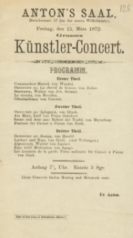 Pozycja nr 128 z kolekcji Henryka Nitschmanna : Grosses Künstler-Concert