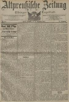 Altpreussische Zeitung, Nr. 277 Dienstag 27 November 1900, 52. Jahrgang