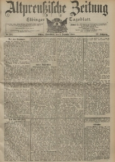 Altpreussische Zeitung, Nr. 281 Sonnabend 1 Dezember 1900, 52. Jahrgang