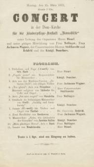 """Pozycja nr 138 z kolekcji Henryka Nitschmanna : Concert in der Dom-Kirche für die Kinderpflege-Anstalt """"Bionshilfe"""""""