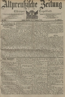 Altpreussische Zeitung, Nr. 282 Sonntag 2 Dezember 1900, 52. Jahrgang