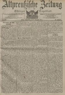 Altpreussische Zeitung, Nr. 285 Donnerstag 6 Dezember 1900, 52. Jahrgang