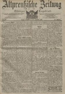 Altpreussische Zeitung, Nr. 287 Sonnabend 8 Dezember 1900, 52. Jahrgang