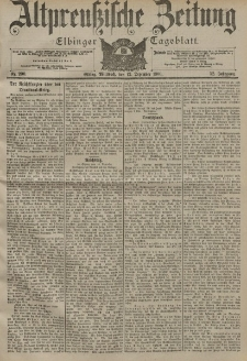 Altpreussische Zeitung, Nr. 290 Mittwoch 12 Dezember 1900, 52. Jahrgang