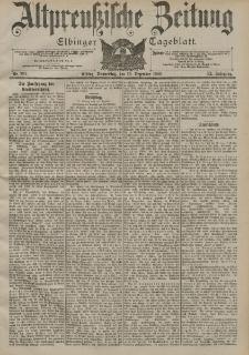 Altpreussische Zeitung, Nr. 291 Donnerstag 13 Dezember 1900, 52. Jahrgang