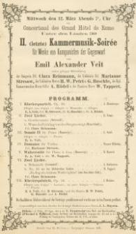 Pozycja nr 146 z kolekcji Henryka Nitschmanna : (letzte) Kammermusik-Soirée für Werke von Komponisten der Gegenwart